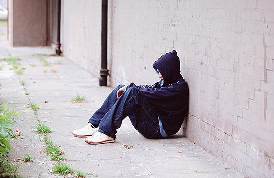 Homeless youth, running away, street kid