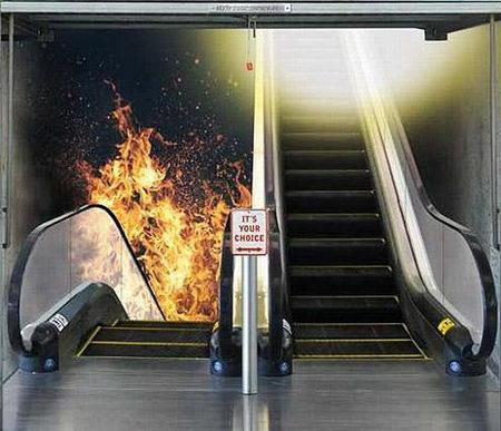 stairs door to heaven hell