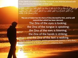 Hadith about Zina