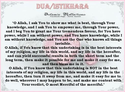 Istikhara meaning? | IslamicAnswers com: Islamic Advice