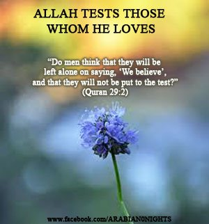 Allah Tests who He Loves