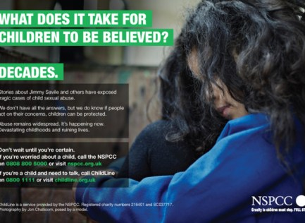 NSPCC poster campaign