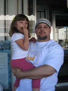 Wael and Salma on Humanitarian Day, 2012