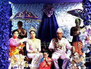 Muslim wedding in Philippines.