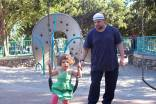 Wael and Salma at the park