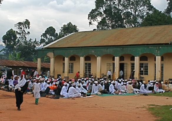 Ugandan Muslims waiting to break their Ramadan fast