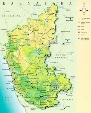 Karnataka India map