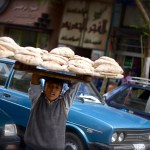 Cairo boy selling bread