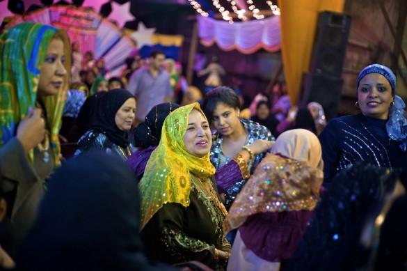 An Egyptian open air wedding