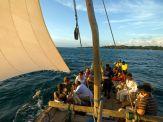 A sailing dhow in Zanzibar