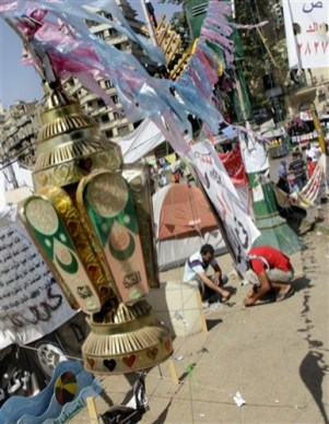 Ramadan lamps at Tahrir Square