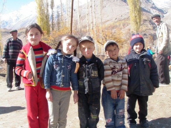 Local children at a wedding in Tajikistan