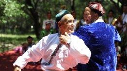 Uighur Muslims dancing.