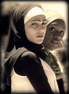 Two young Muslim women
