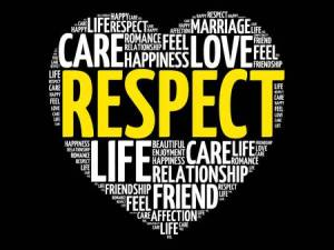 Respect word collage