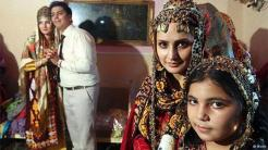 A traditional Turkmen wedding in the northern Iranian town of Gorgan