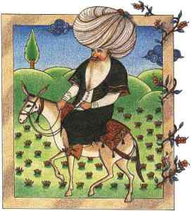Joha on his donkey