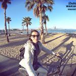Barcelona na rowerze, plaża San Sebastia