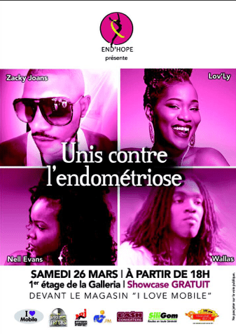 #ZayActu : Unis contre l'Endométriose Showcase gratuit ce samedi 26 mars devant I Love Mobile Galleria à 18H | ZayRadio.org