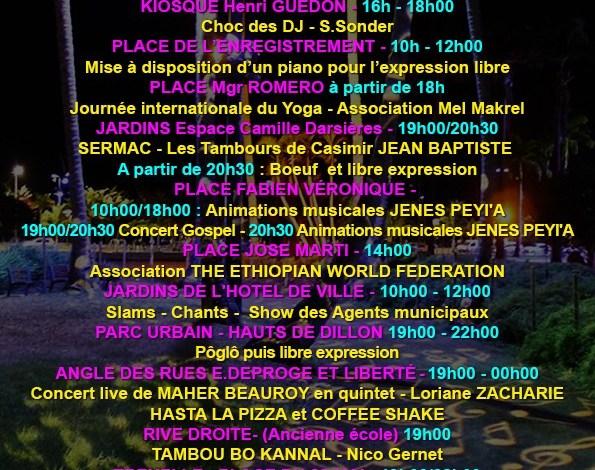 ProgrammeFeteDeLaMusiqueFortDeFrance