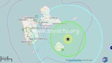 Photo of Un léger séisme de magnitude 4 sur l'échelle de Richter ressenti en Guadeloupe