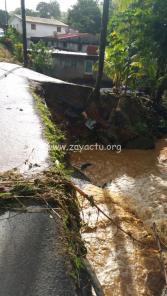 La pluie a fait beaucoup de dégâts à Sainte-Marie hier soir 2