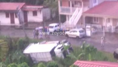 Photo of Nouvel accident d'un camion de ramassage d'ordures en Martinique au Gros-Morne
