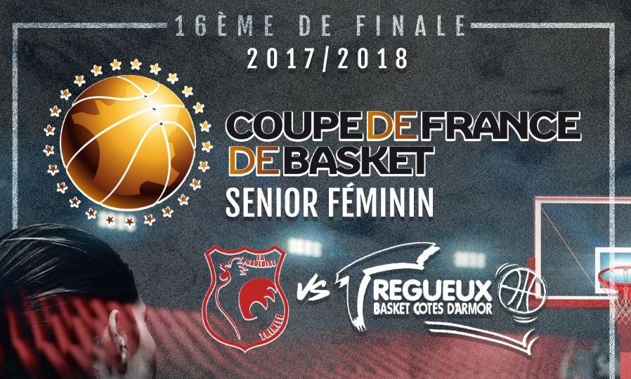 Troph e coupe de france basket f minin gauloise tr gueux c 39 est ce soir 20h en direct sur - Basket feminin coupe de france ...