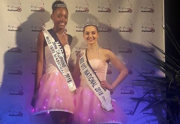 Laurence Fibleuil en compagnie de la Miss 15/17 National 2018 Ombeline Portail.