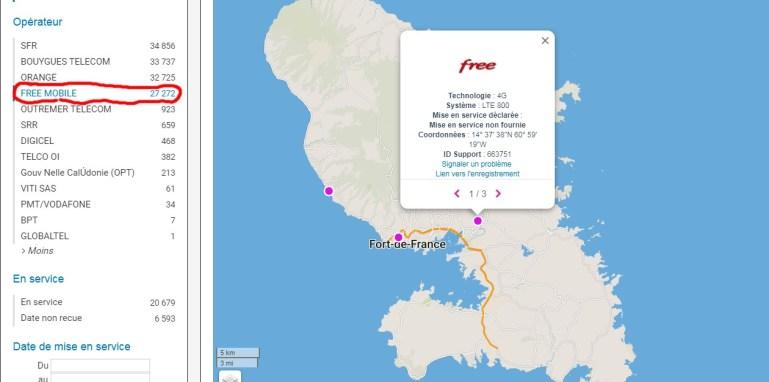 Free Mobile débute le déploiement de son réseau en Martinique