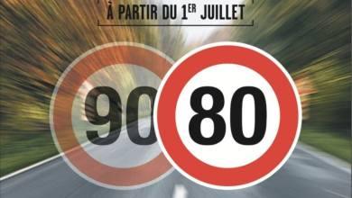 Photo of Limitation à 80km/h : la mesure s'appliquera dès le 1er juillet 2018