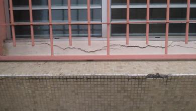 Photo of Des fissures apparaissent dans un bâtiment du collège Jacques Roumain à Rivière-Pilote suite au séisme
