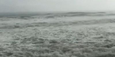 Tempête tropicale ISAAC : forte houle au Lorrain (VIDÉO)