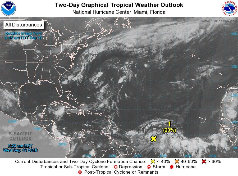 Une nouvelle onde tropicale sous surveillance par le NHC