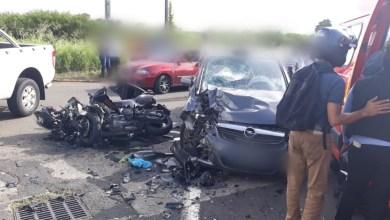 Photo of Grave accident de moto à l'entrée de Roches Carrées au Lamentin