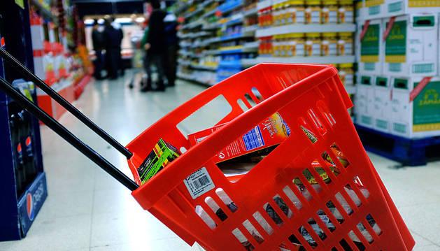 Panier de caisse supermarché