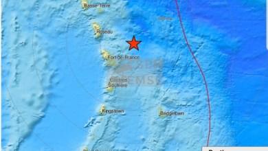 Photo of Un séisme modéré enregistré en Martinique, ce lundi