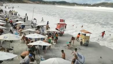 Photo of De fortes vagues frappent plusieurs plages au Brésil et sèment le chaos (VIDÉO)