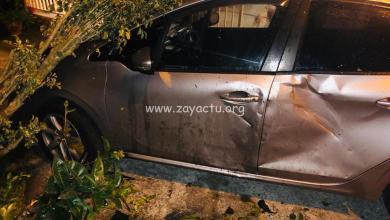 Photo of Il emboutit une voiture garée sur un parking privé et prend la fuite