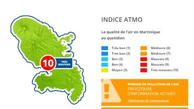 Photo of L'air est irrespirable en Martinique avec un indice de 10 sur 10 soit un air très mauvais