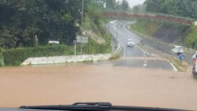 Photo of Montée des eaux entre Trinité et Sainte-Marie au niveau de la passerelle de Derrière-Morne