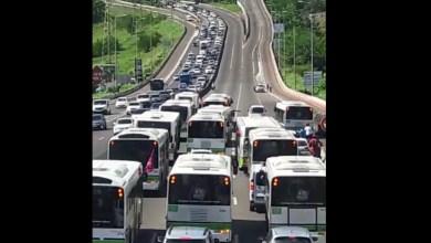 Photo of Circulation très perturbée sur l'autoroute au niveau du pont de Californie au Lamentin (VIDÉOS)