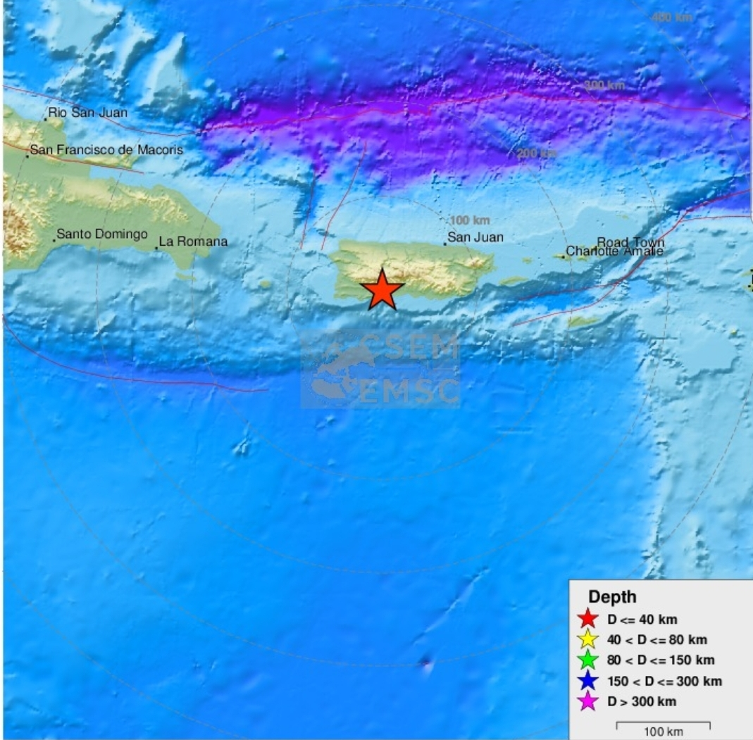 Un puissant séisme de magnitude 5,9 touche à nouveau Porto Rico