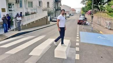 Photo of Le premier passage piéton 3D en Outre-mer est situé à Saint-Pierre en Martinique