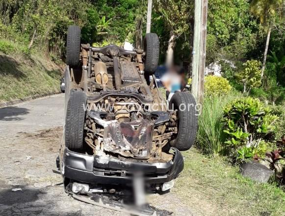 Accident de voiture au Saint-Esprit