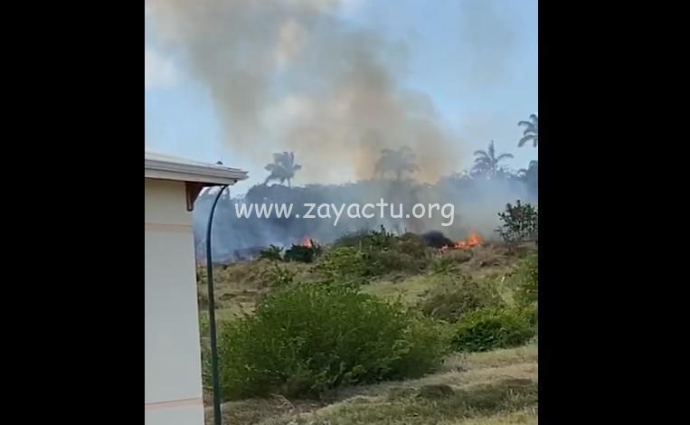 Incendie au Vauclin