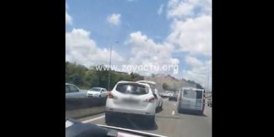 Accident sur l'autoroute