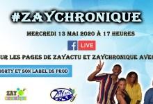 Photo de ZayChronique reçoit ce mercredi 13 mai 2020 à 17H, DonShorty avec son Label DS Prod