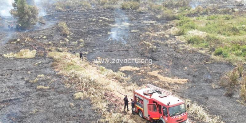 feu de broussailles à Ducos Génipa