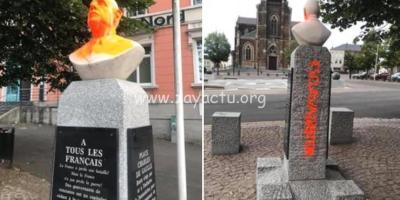 Buste du général Charles de Gaulle vandalisé